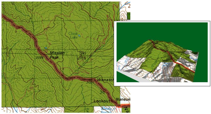 contour map contours show land shapes and elevation