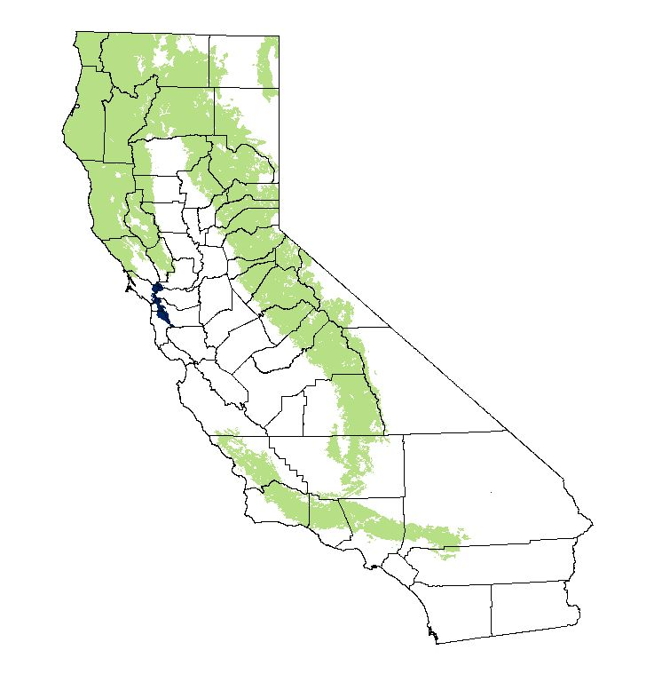 california distribution map